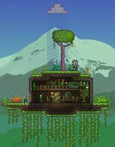 Terraria House Design, Terraria House Ideas, Terraria Tips, House Games, Witch Doctor, Biomes, Minecraft Houses, Pixel Art, Game Art