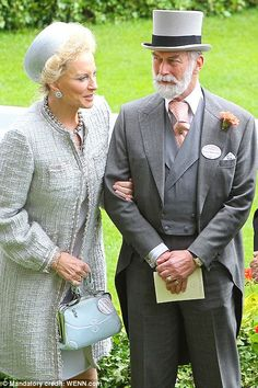 Princess Michael of Kent and Prince Michael of Kent. I saw them this summer. I know a lot of people don't like her, but she is striking.