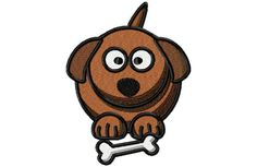 Fat Pup Embroidery Design by SewMeSomeStitches on Etsy