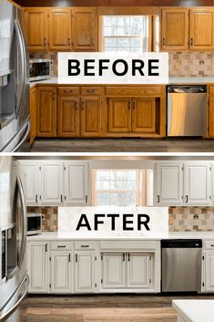 Kitchen Cabinets Painted In Neutral Ground – Painted by Kayla Payne, – Painted Colorful Kitchen Cabinets Distressed Kitchen Cabinets, Refinish Kitchen Cabinets, Kitchen Cabinet Colors, Kitchen Redo, Neutral Kitchen Cabinets, Kitchen Makeovers, Kitchen Countertops, Oak Cabinets, Kitchen Colors