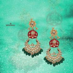 Rule the wedding season with this brilliant set of earrings with green beads and a hint of red. By TAD accessories, at Minerali. #minerali_store #tad #accessories #love #accessorize #designerjewellery #brilliant #weddingjewellery #jewellery #earrings #design #fashion #linkingroad #bandra #minerali