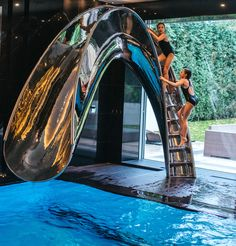 "The ultimate ""just one more go"" way to cool off. Reflex by SplinterWorks #splinterworks #splinterworksslides #pools #spas #outdoorliving #pooldesign #luxurypools #swimingpools #architecture #luxurypoolsmag #pool #slides #toboggan #poolparty #waterslide #waterslides #designdeinteriores #design #designer#designed #designporn #designart #designinspo #designlovers #interiordesigner #designinterior #luxurylifestyle #luxuryhomes #luxuryhome #luxuryliving #luxuryrealestate"