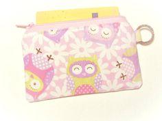 cute owl  work lanyard purse  credit card holder  by https://www.etsy.com/sg-en/shop/AlmondTree, #purse, #coinpurse, #cardholder, #womenwallet #cute #owl #purse #wallet #lanyardpurse #etsy #sewing