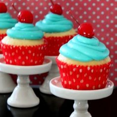 Retro cool colors for cupcakes