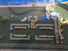Blick auf ein Modell im Wirtschaftsgebäude von der Gesamtanlage des Sächsischen Kinderheimes Scale Model