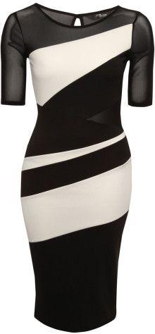 Jane Norman Monochrome Colour Block Midi Dress - Lyst