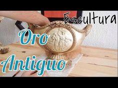 Cómo hacer efecto Oro Antiguo en Esculturas / DIY/ Fácil - YouTube