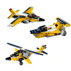 130pcs 3in1 Children's Educational Toy Airplane Model Puzzle with Plastic Assembly Toys Gifts