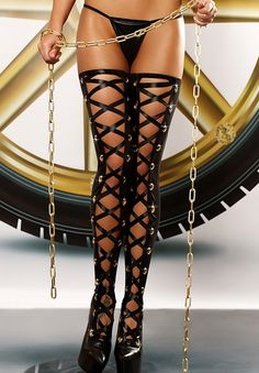 Bizarre stockings black de Lolitta