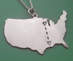 long distance love necklace.