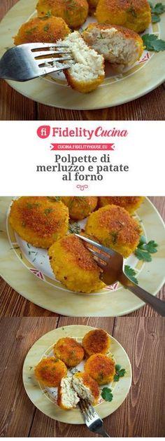 Polpette di merluzzo e patate al forno