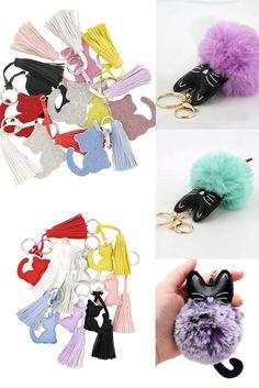 cute cat themed key-rings or bag ornaments