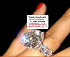 Floyd Money Mayweather's wife's diamond ring