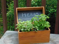 When this recipe box was transformed into an herb box. | 26 Beautiful Ways To Use Chalkboard Paint