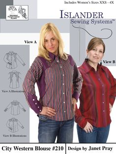 Women's City Western Blouse - Islander Sewing