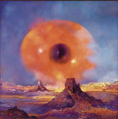 Paul Lehr (1930-1998) is one of the greatest future-fantasist painters of the post-pulp era. He was very prolific and produced a large body of work of remarkable intensity and consistent high quality. In the late-80s and 90s, after paperback publishers had lost interest in putting beautifully weird covers on their books, Lehr turned his attention to painting epic and highly detailed dream landscapes,Paul Lehr - M̲elt