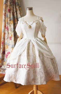 Surface Spell Day and Night Draped Chiffon Gothic Lolita OP Dress - Customizable,Lolita Dresses, Estilo Lolita, Kawaii Fashion, Cute Fashion, Rock Fashion, Retro Fashion, Style Fashion, One Piece Dress, Dress Up, Pretty Dresses