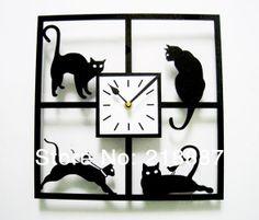 ACRYLIC Creative Home Decor Wall Clocks Kitchen And
