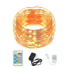 Amazon.com : JPC Dimmable Waterproof 100 LEDs String Light with Wireless Remote Control for Indoor and Outdoor, 33 Feet Copper Wire (Multicolor, Red, Yellow, Blue, Green) : Patio, Lawn & Garden