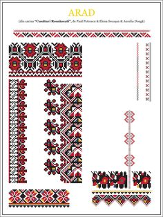 paulpetrescu&elenasecosan&aureliadoaga - ie ARAD. Cross Stitch Floss, Cross Stitch Borders, Cross Stitch Designs, Cross Stitching, Cross Stitch Patterns, Folk Embroidery, Embroidery Stitches, Embroidery Patterns, Beading Patterns