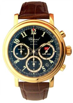 Chopard Mille Miglia 18kt Yellow Gold Brown Chronograph Mens Watch 16/1250