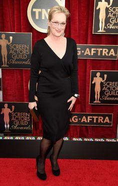 Pin for Later: Wir nehmen euch mit auf den roten Teppich der SAG Awards! Meryl Streep