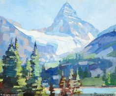 Mt. Assiniboine from Sunburst Lake sold by Coeur d'Alene Art Auction, Reno, on Saturday, July 21, 2012