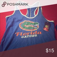 Gators tank top Super cute brand new with tags Florida Gators top. Tops Tank Tops