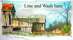 Line and WashWatercolour Tutorial. Quick and Easy style. By Peter Sheeler