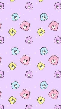 Cartoon Wallpaper, Bear Wallpaper, Iphone Background Wallpaper, Wallpaper Iphone Disney, Kawaii Wallpaper, Pattern Wallpaper, Aesthetic Pastel Wallpaper, Aesthetic Wallpapers, Cute Wallpaper Backgrounds