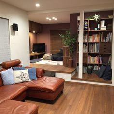 natsumama6566さんの、イオンで購入,ビーズソファ,ブラウン,アクタスのソファ,無印良品 収納,のお部屋写真
