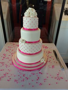 Pink and sparkle theme cake