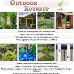 16 outdoor themed diy tutorials for the gardener, decorator, entertainer or builder!