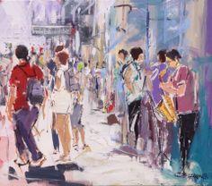 Hà música no Chiado | Lisboa - 2014 acrílico s/tela | 70 x 80 cm