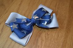 Dallas Cowboys Hair Bow 1 by RedandPinkBoutique on Etsy, £4.50
