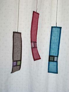 souvenir valence Fabric Panels, Fabric Art, Korean Crafts, Textile Courses, Creative Textiles, Decorative Screens, Types Of Craft, Korean Art, Window Art