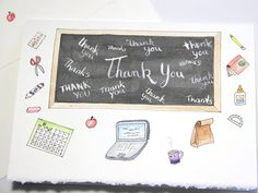 New teacher appreciation/thank you card in my etsy shop! Link in profile ⬆️