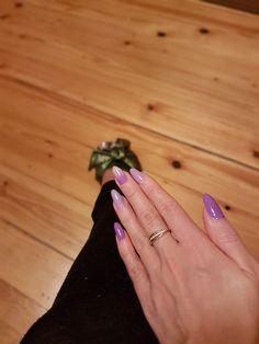 Violet nails ombre nails
