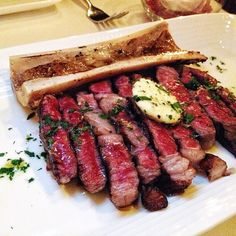 Grilled USDA Prime Ribeye (10oz) in Medium Rare with Bone Marrow. satisfying my steak craving!