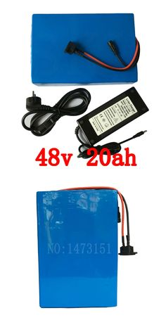 Free shipping 1000 times cycle 48V 1000W Lithium Battery 48V 20AH Electric Bicycle Battery with 54.6V 2A charger ,30A BMS