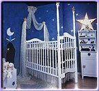 Create a Special Baby's Room - moon and stars little girl's nursery. baby moon and stars ideas