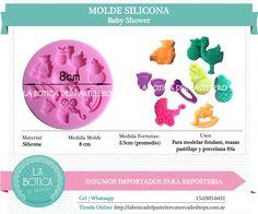 Categoría: Molde Silicona cake pop, tortas, muffins, chocolatero  Producto: molde silicona pequeñas figuras  Modelo: baby shower Presentacion: 1 molde de 9 formitas Importado