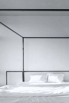 Proving that a space needn't have electrical wires or ducts hanging from the ceiling to be an expose on industrial style, a 250 square meter. Kiev Ukraine, Minimalist Bedroom, Industrial Style, Nest, Architecture Design, Minimalism, Bedrooms, Bedroom Decor, Group