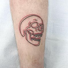 Black and red skull tattoo of anaglyph tattoo . - Anaglyph black and red skull tattoo # Skull tattoo - Small Tattoos Men, Small Skull Tattoo, Unique Tattoos, Tattoos For Women, Awesome Tattoos, Tattoos On Guys, Tatto For Men, Unique Tattoo Designs, Cool Tats