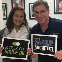 Braces Off Day for Brooke - Congratulations Brooke on getting your braces off!  Loving that Genecov grin on you!