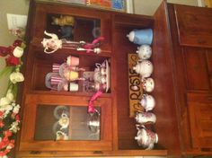 my little collection Teapots, Liquor Cabinet, Storage, Furniture, Collection, Home Decor, Purse Storage, Homemade Home Decor, Larger