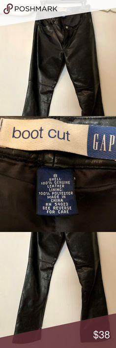 Gap Black Bootcut Leather Pants Beautiful black bootcut women's leather pants--perfect for any glam occasion! GAP Pants Boot Cut & Flare