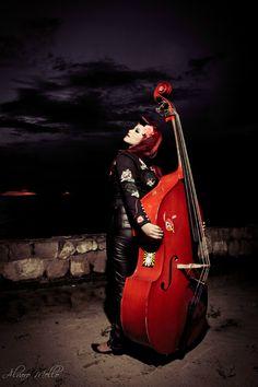 Rockabilly Bass --- Western --- Country --- Upright Bass ---- Rockabilly --- Psychobilly --- Bunny --- River --- Sky ---- Vintage --- Retro --- Black