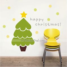 Cute Christmas Tree Wall Sticker