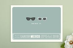 Shades Save the Date Postcards by Olive and Violet at minted.com